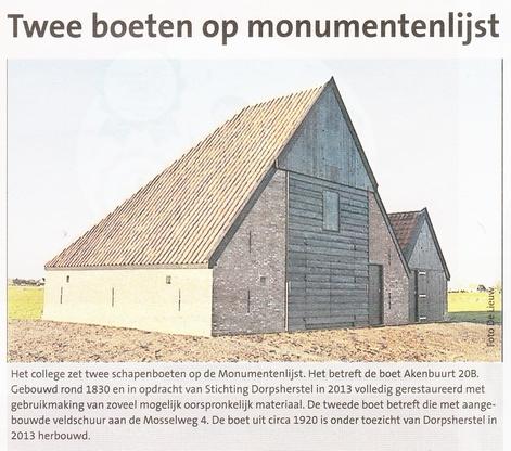 Twee boeten op monumentenlijst