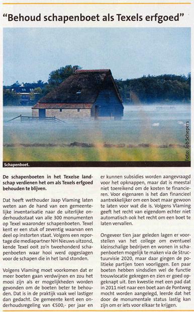 Behoud schapenboet als Texels erfgoed